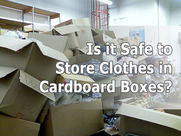 cardboard box clothes