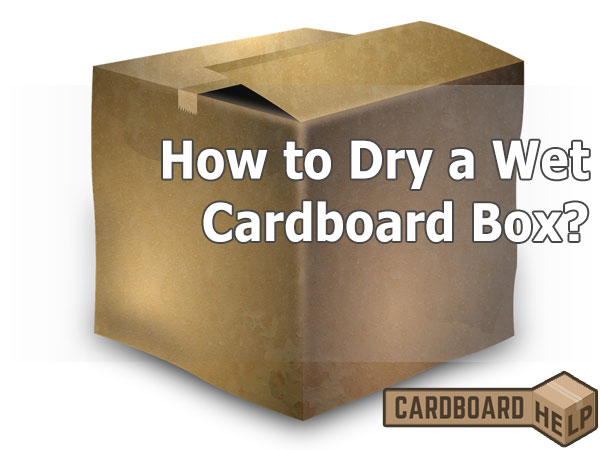 how to dry a wet cardboard box