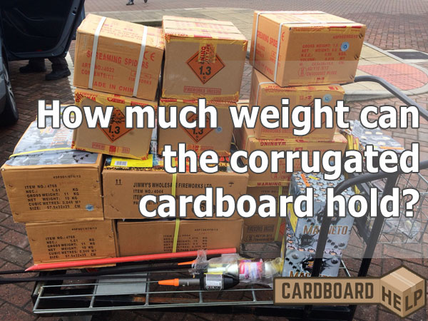 how much weight can cardboard hold